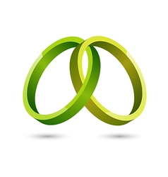 Abstract green circles icon vector