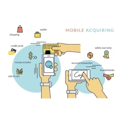 Mobile acquiring with signature via smartphone vector