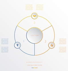Circle from 3 coloured lines vector image