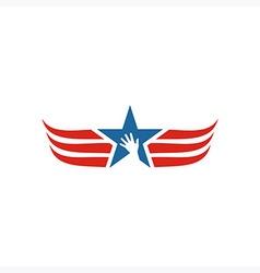 America usa logo icon star wing vector