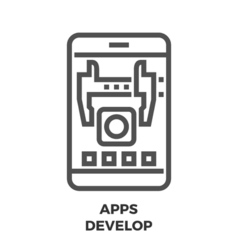 Apps develop line icon vector