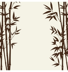 Bamboo forest card vector