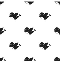 Bird black icon for web and mobile vector