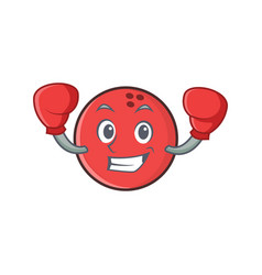 Boxing bowling ball character cartoon vector