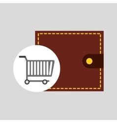buying cart wallet man design vector image vector image