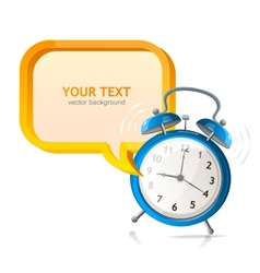 clock banner vector image vector image