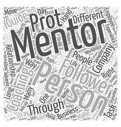 Coaching and mentoring word cloud concept vector