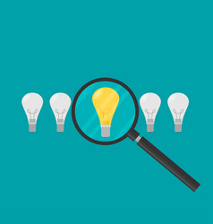 concept in flat stye - searching for idea - vector image vector image