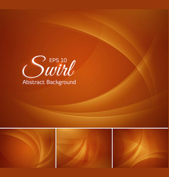 Curvy abstract background gold vector