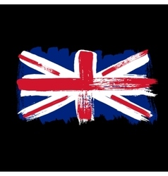 Flag of Great Britain on a black background vector image
