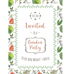 Floral background for invitation card vector