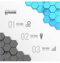 Geometric business infographic template vector