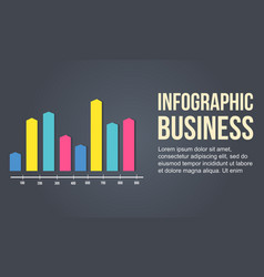 Graph colorful business infographic design vector