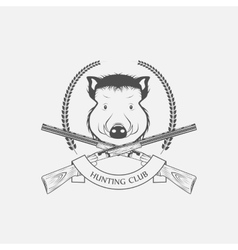 guns and hunting boar Club vector image vector image