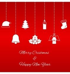 Hanging Christmas symbols vector image