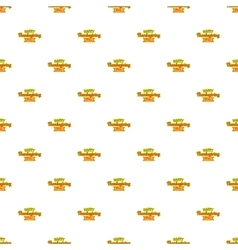 Happy thanksgiving day ribbon pattern vector