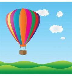 hot air birthday balloon vector image vector image
