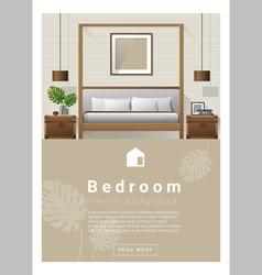 Interior design modern bedroom banner 7 vector