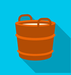 Milk bucket icon flat single bio eco organic vector