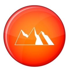 Mountains icon flat style vector