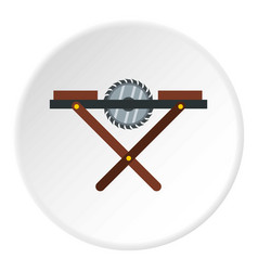 Movable circular saw icon circle vector
