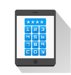 Password screen device vector