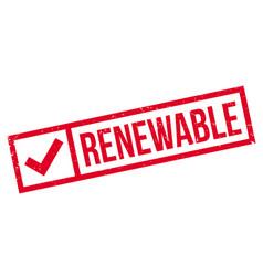 Renewable rubber stamp vector