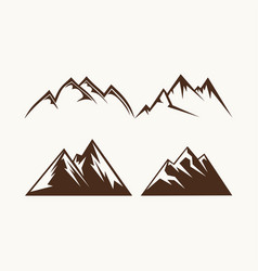 Set of mountains for the logo vector