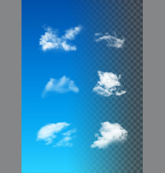 set of realistic clouds vector image vector image