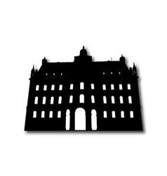 Silhouette of old building vector