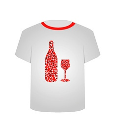 T Shirt Template- Love potion vector image