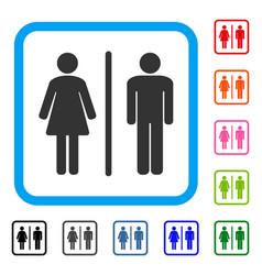 Toilet framed icon vector