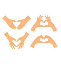 Two hands making heart shape vector