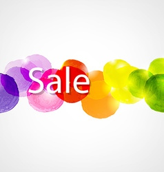 Watercolor Sale Poster vector image vector image