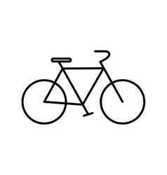 Bike cycle transportation icon graphic vector