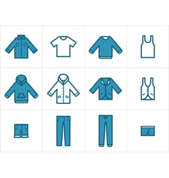 Clothing Icons Set 1 vector image