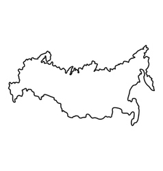 Russia map icon outline style vector image