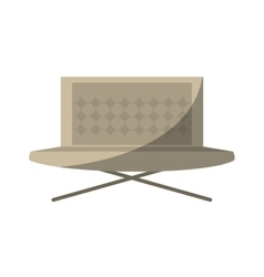 Sofa furniture house relax shadow vector