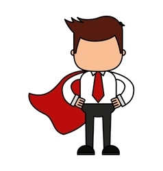 Businessman funny with hero layer character icon vector