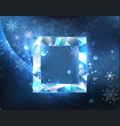Square ice banner vector