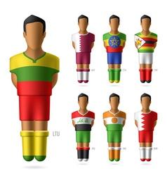 Soccer football players vector