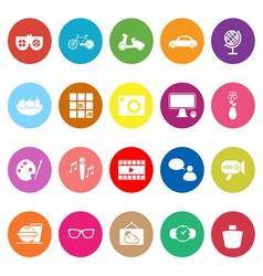 Favorite and like flat icons on white background vector