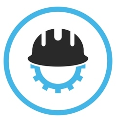 Development hardhat flat icon vector