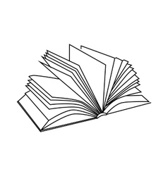 Book with multiple sheets icon outline style vector