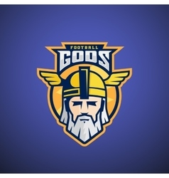 Football gods sport team or league logo vector