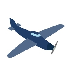 Blue plane icon isometric 3d style vector