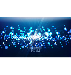 Abstract illuminated underwater background vector