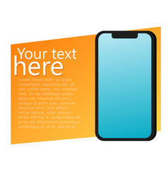 ads banner with phone advertisements for your app vector image vector image