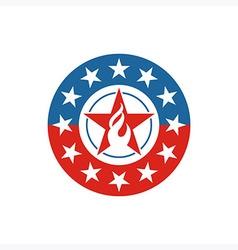 America star circle usa logo icon vector