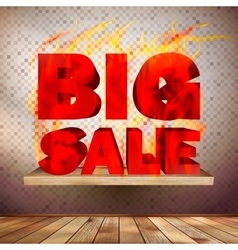 Big burn sale template interior vector image
